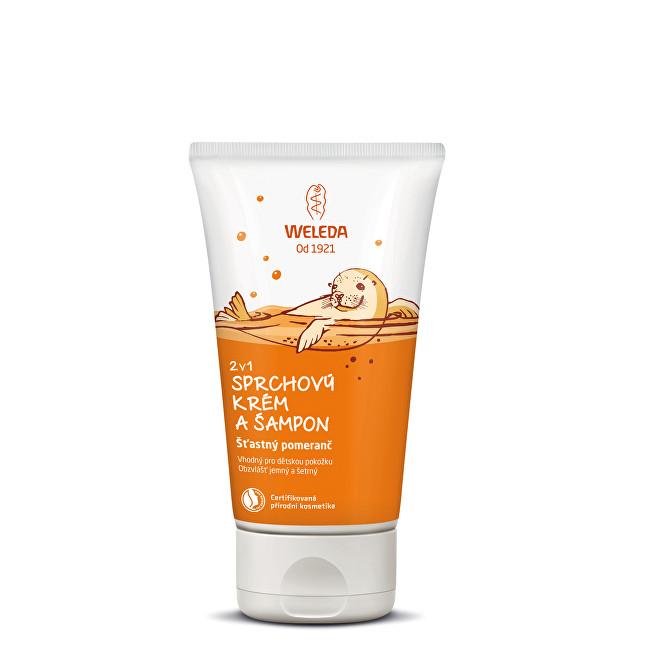 Weleda Sprchový krém a šampon 2 v 1 Šťastný pomeranč 150 ml