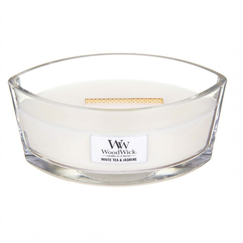 WoodWick Vonná sviečka loď White Tea & Jasmine 453 g