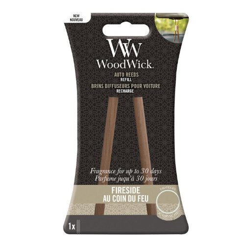 WoodWick Náhradné vonné tyčinky do auta Fireside (Auto Reeds Refill)