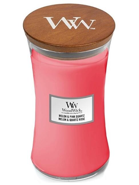 WoodWick Vonná sviečka váza Melon & Pink Quartz 609,5 g