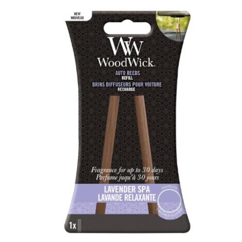 WoodWick Náhradné vonné tyčinky do auta Lavender Spa (Auto Reeds Refill)