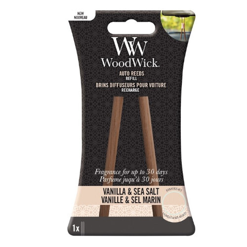 WoodWick Náhradné vonné tyčinky do auta Vanilla & Sea Salt (Auto Reeds Refill)