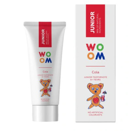WOOM Dětská zubní pasta Junior Cola (Junior Toothpaste 6+ Years) 50 ml