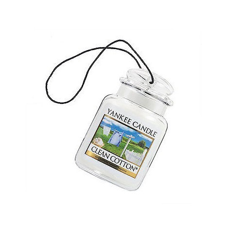 Yankee Candle Luxusní visačka do auta Clean Cotton 1ks