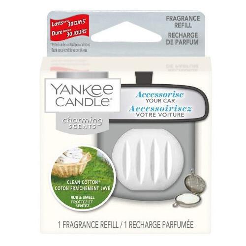 Yankee Candle Vôňa do auta Clean Cotton - náhradná náplň 1 ks