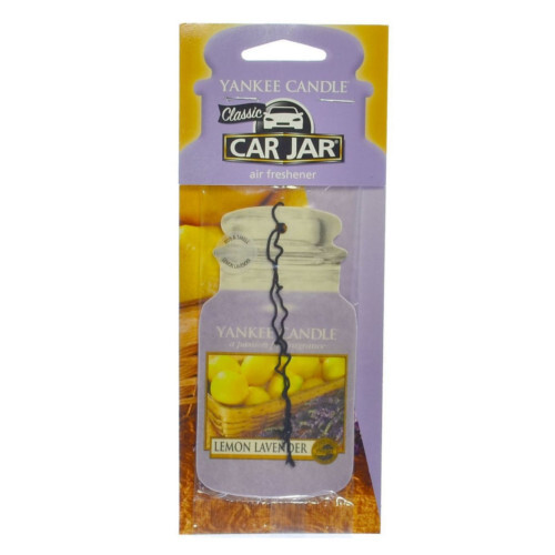 Yankee Candle Papírová visačka do auta Lemon Lavender 1 ks