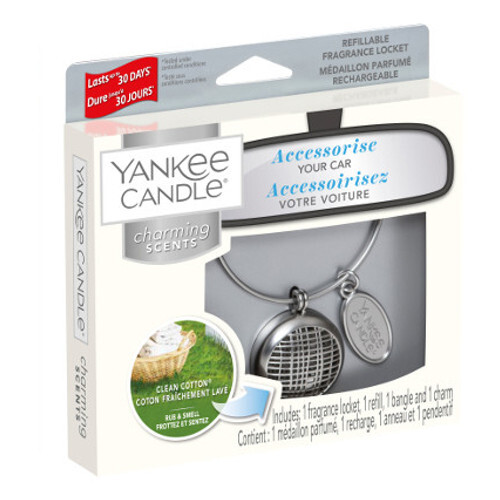 Yankee Candle Vůně do auta s pouzdrem Linear Clean Cotton 90 g