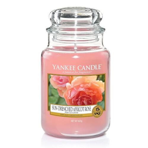 Yankee Candle Aromatická sviečka veľká Sun-Drenched Apricot Rose 623 g