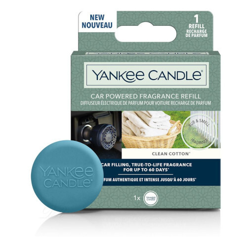 Yankee Candle Náplň do difuzéru do zásuvky auta Car Powered Clean Cotton 1 ks