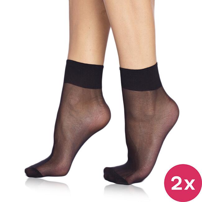 Bellinda 2 PACK - silonkové ponožky Die Passt 20 DEN Black BE200215-094-U