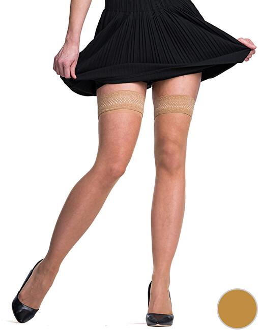 Bellinda Dámské samodržící punčochy Fascination UP 15 DEN Amber BE280002-230 L
