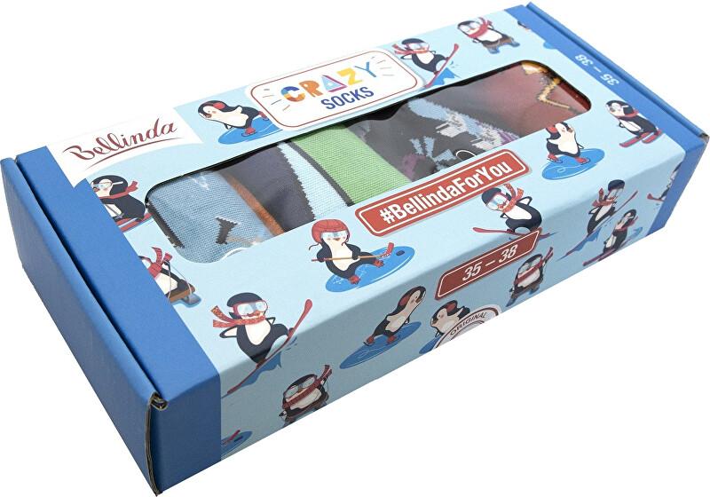 Bellinda Darčeková sada ponožiek Crazy Socks Box BE481044-004 35-38