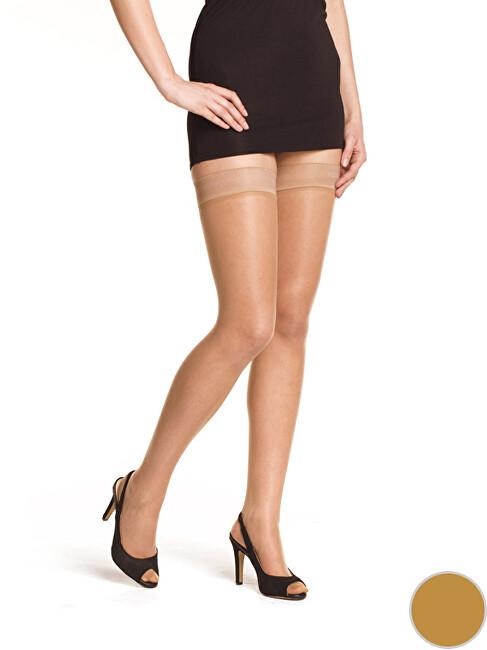 Bellinda Dámské samodržící punčochy Beauty Hold Ups 15 DEN Amber BE280001-230 L