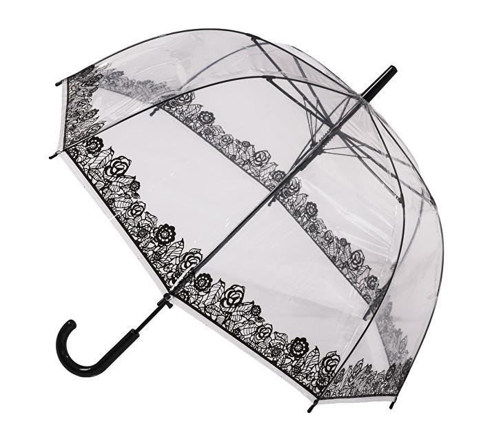 Blooming Brollies Dámský průhledný holový deštník POESLA
