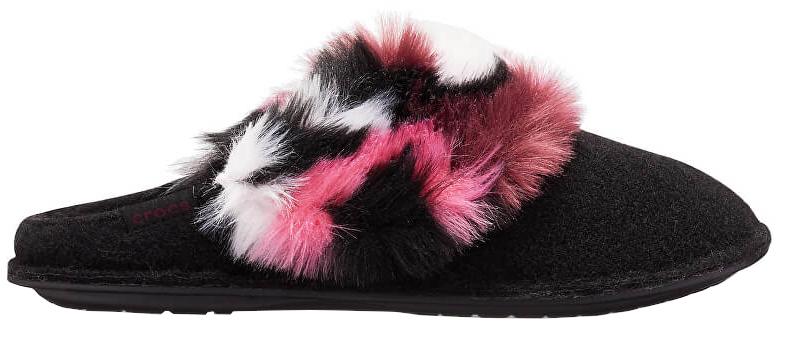 Crocs Dámske šľapky So Luxe Slipper Black / Multi 205890-0C4 36-37