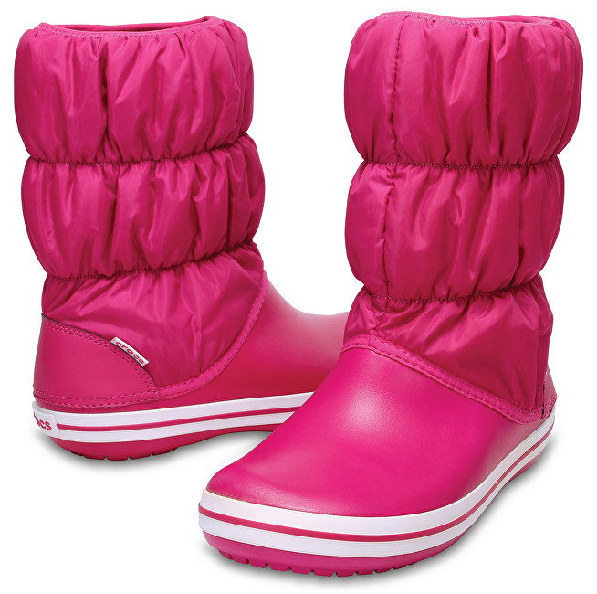Crocs Dámské sněhule Winter Puff Boot Women Candy Pink/Candy Pink 14614-6X3 36-37
