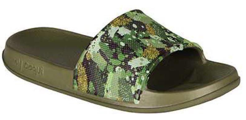 Coqui Detské šľapky Tora Army Green Camo 7083-203-2600 28-29