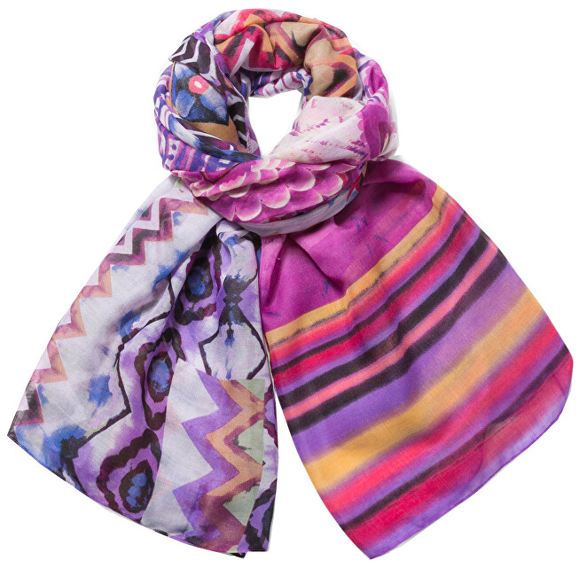 Desigual Šátek Foulard Rectangle Ethnic Dye 73W9WE4 3011