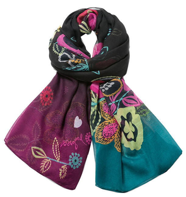 Desigual Šátek Foulard Rectangle Wow!!! 73W9EE5 2000