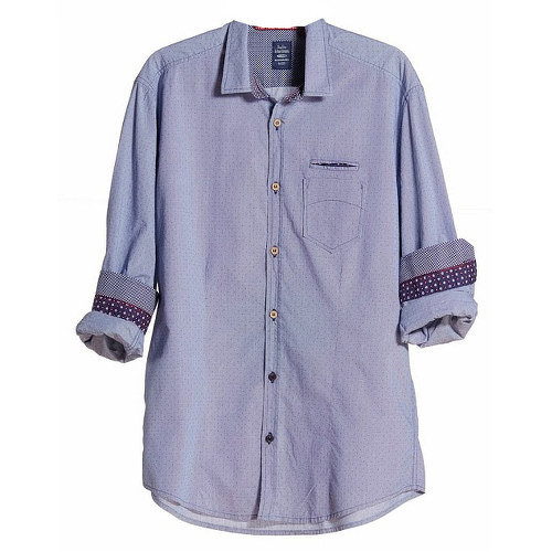 Edward Jeans Pánská košile Denim Shirts Light Blue 16.1.1.03.005 M