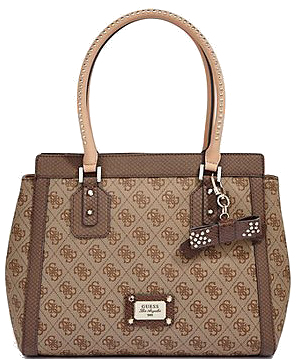 Guess Elegantní business kabelka Cheating Heart Avery Logo Satchel Brown