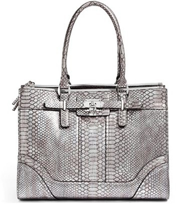 Guess Elegantní business kabelka Greyson Metallic Status Carryall