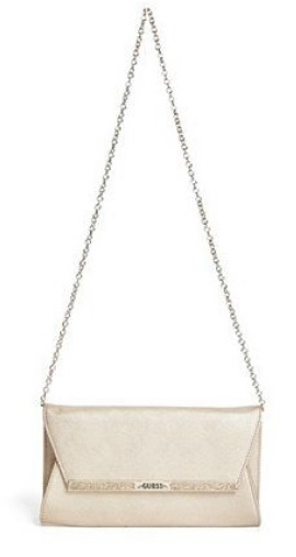 Guess Elegantní crossbody kabelka Heidi Bar Clutch Gold