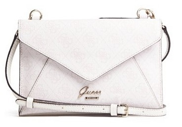 Guess Elegantní crossbody kabelka Park Lane Envelope Crossbody Cement