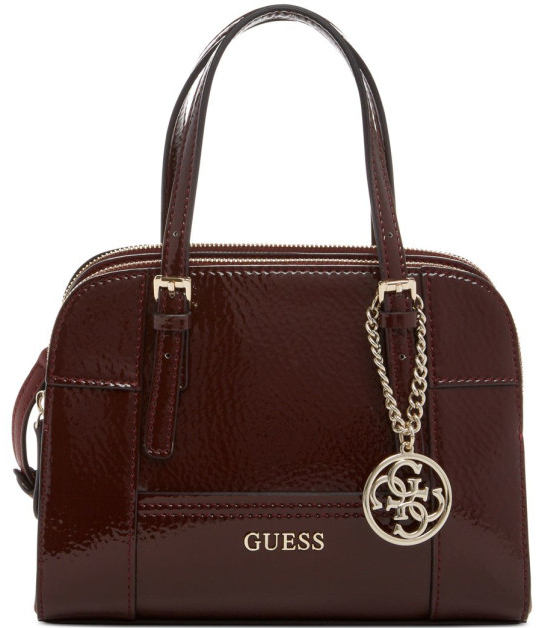 Guess Elegantní bordó kabelka Huntley Small Cali Satchel