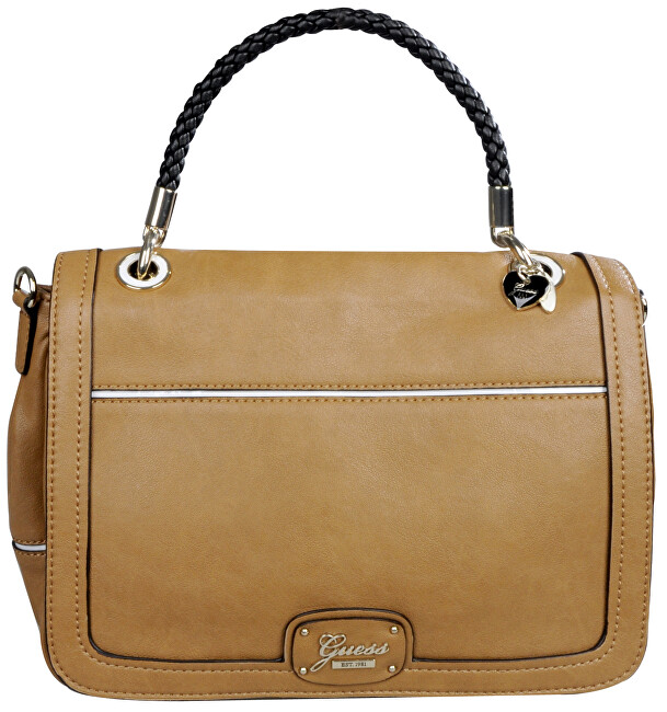 Guess Elegantní kabelka Briza Top-Handle Messenger Brown