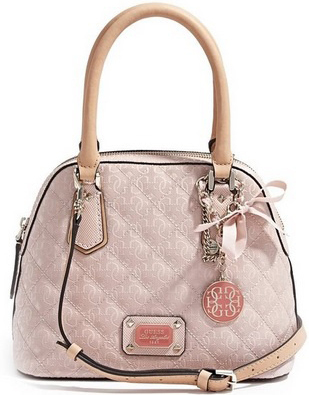 Guess Elegantní kabelka Juliet Amour Dome Satchel Light Pink