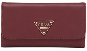 Guess Elegantní peněženka Marisole Boxed Slim Clutch Red