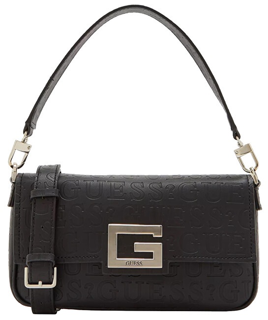Guess Dámska crossbody kabelka Brightside Flap Over Crossbody HWVD75 80190 black