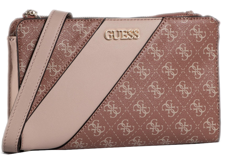 Guess Dámska crossbody kabelka Camy Double Zip Crossbody HWSG77 41690 Cinnamon Multi