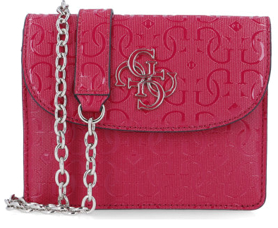 Guess Dámska crossbody kabelka Chic Shine Mini Crossbody Flap HWSG77 46780 berry-ber