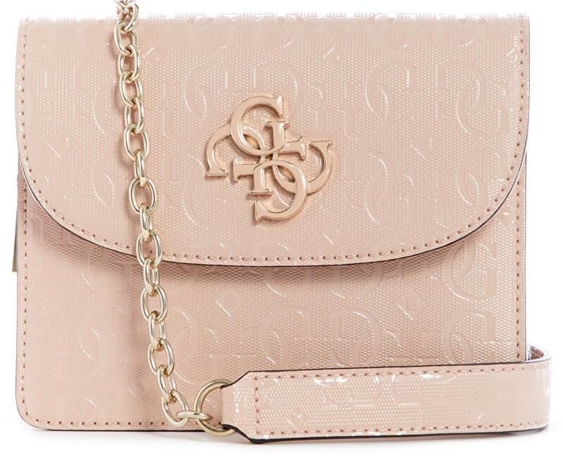 Guess Dámska crossbody kabelka Chic Shine Mini Crossbody Flap HWSG77 46780 blush-bls