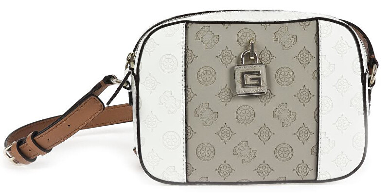 Guess Dámska crossbody kabelka Kamryn Crossbody Top Zip HWPI66 91120 Taupe Multi