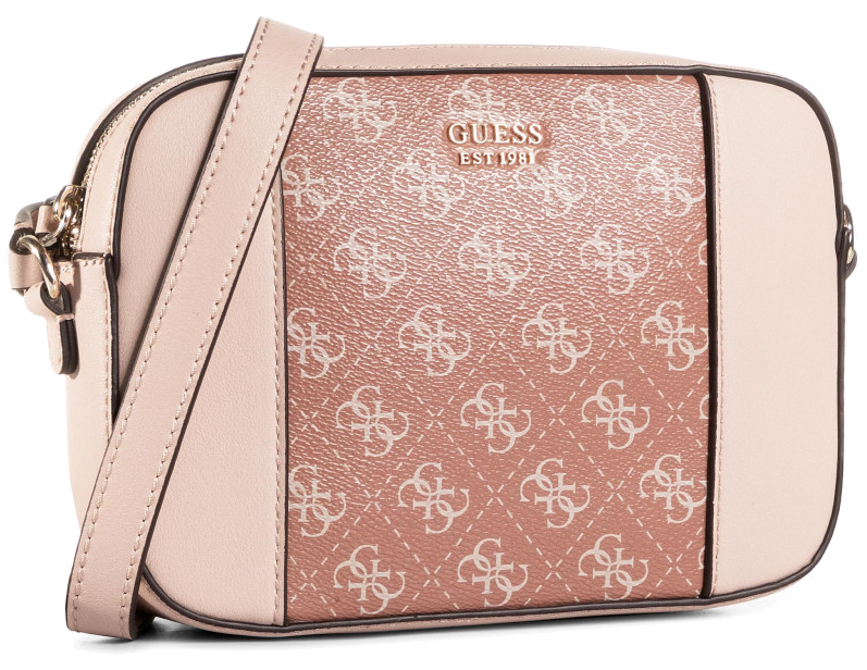 Guess Dámska crossbody kabelka Kamryn Crossbody Top Zip HWSI66 91120 Cinnamon multi