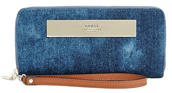 Guess Peněženka Camylle Denim Zip-Around