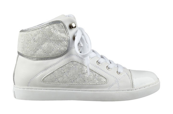 Guess Tenisky Revera Tweed High-Top Sneakers bílá 38