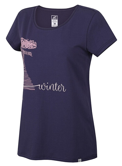 Hannah Dámske tričko s krátkym rukávom SALAMANA Nightshadow blue 36