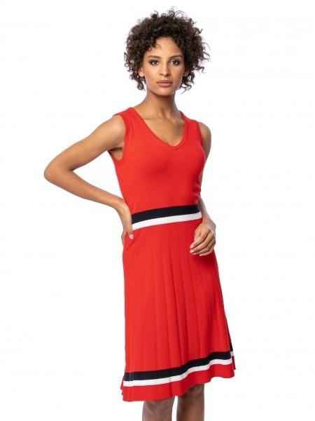 Heavy Tools Dámske šaty Haviera red O3S21492RE L
