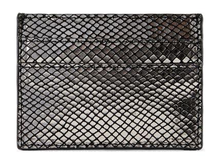 Pieces Dámská peněženka PCNAINA LEATHER SNAKE CARDHOLDER Black snake Pieces