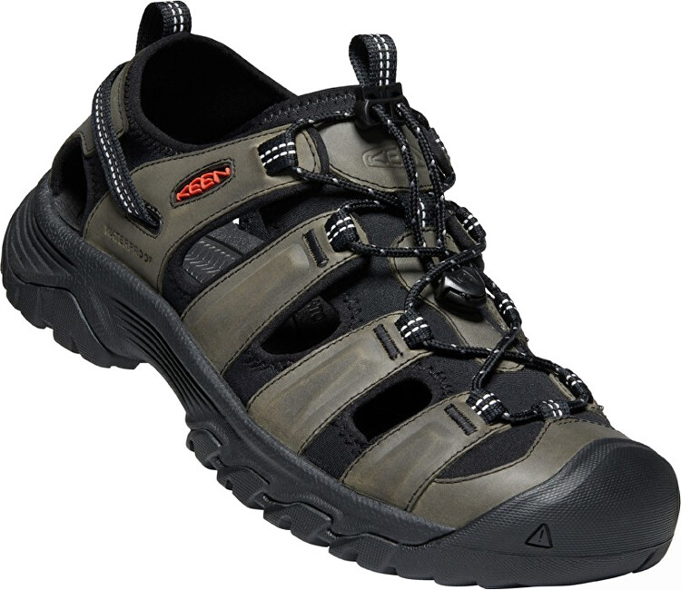 KEEN Pánske sandále Targhee III SANDAL 1022428 grey/black 46 AKCE