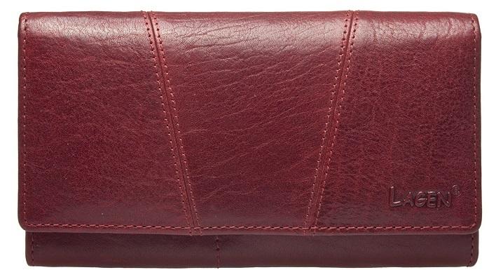 Lagen Dámska kožená peňaženka PWL-388/wine red