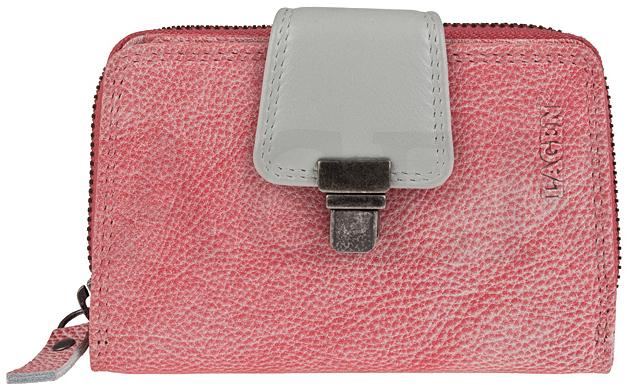 Lagen Dámská kožená peněženka 4495 Lipstick/Silver