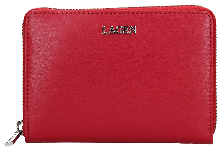 Lagen Dámska kožená peňaženka 50309 Red