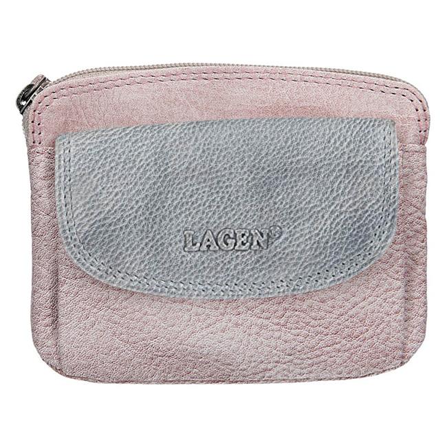 Lagen Dámská kožená peněženka 786-382 Plum/Silver