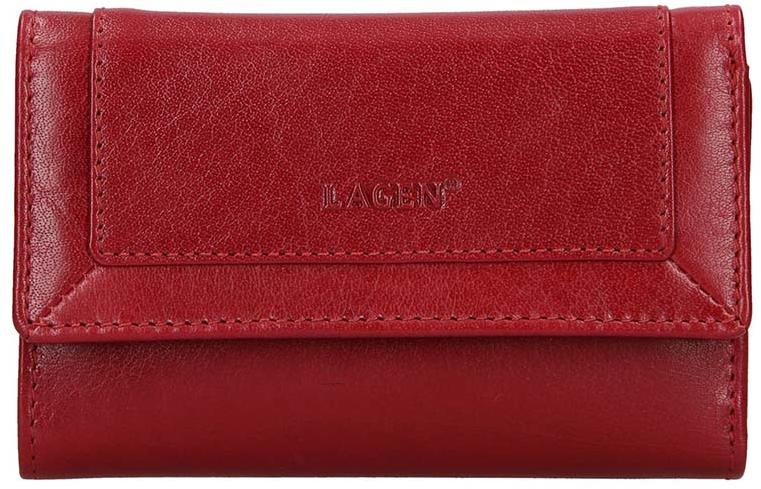 Lagen Dámska kožená peňaženka BLC-4390 Red/Red