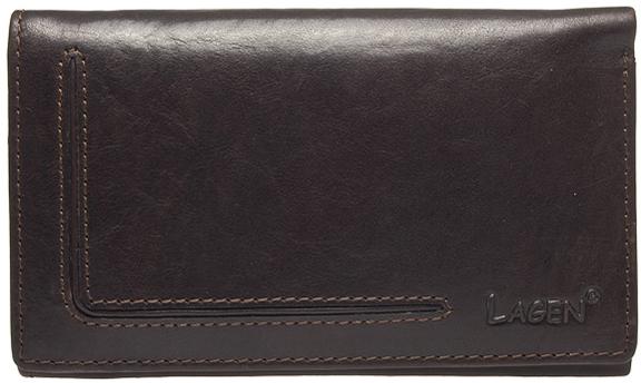 Lagen Dámska kožená peňaženka HT-31/T D.BRN